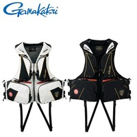 2017 NEW Gamakatsu Fishing life jacket GM 2168 Vest Special offer buoyancy 120 kg Multi function light outdoors Free shipping