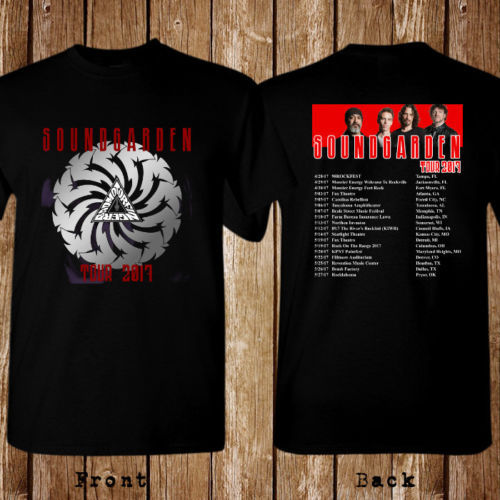 New 2017 SOUNDGARDEN USA Concert Chris Cornell Men/'s Black T-Shirt Size S to 5XL