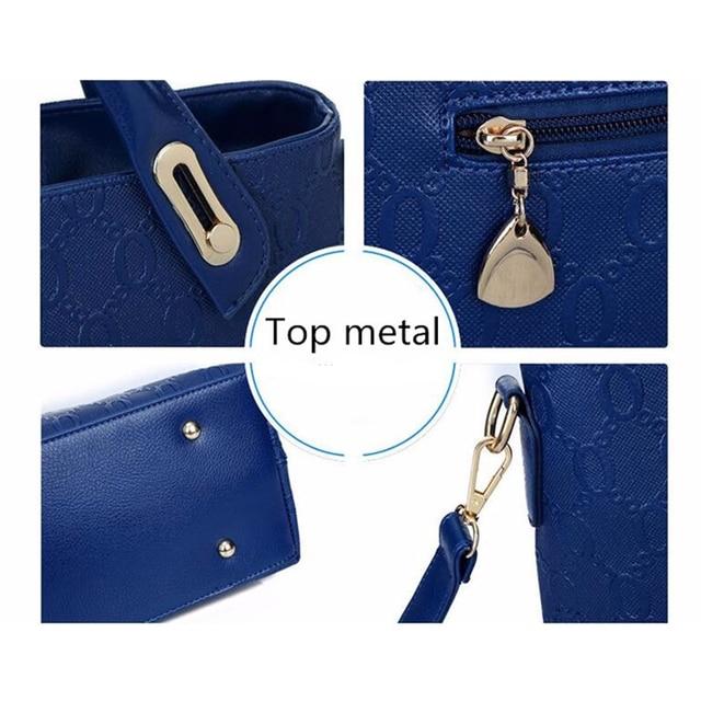 suutoop famous brand women bag top-handle bags fashion lady messenger handbag set PU Leather composite bag bolsa femina 4pcs/set