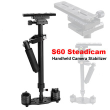 цена на Professional S60 60cm Video Stabilizer Handheld DSLR Camera Steadicam Steady for Camera Video DV DSLR Nikon Canon Sony Panasonic