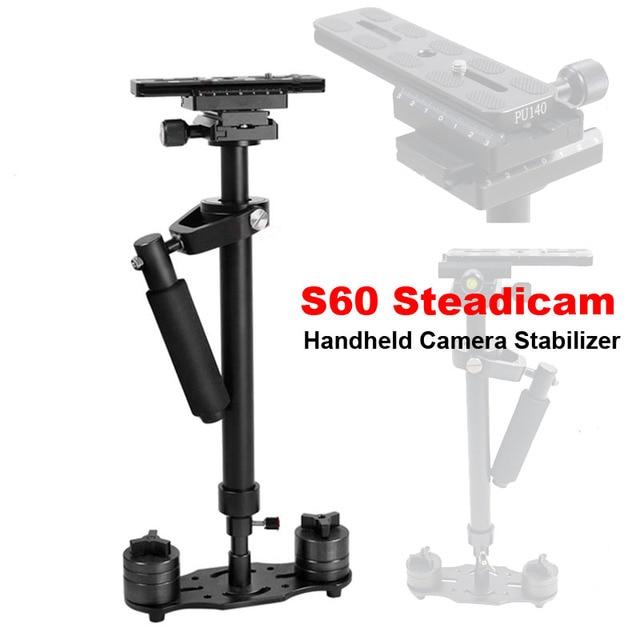 S60 60cm Video Stabilizer Handheld DSLR Camera Steadicam Steady for Camera Video DV DSLR Nikon Canon Sony Panasonic