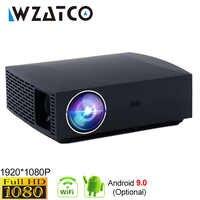 WZATCO F30 Full HD 1920x1080 Android 9.0 en option LED projecteur 3D 5500lumens WIFI Bluetooth Home cinéma projecteur 4K