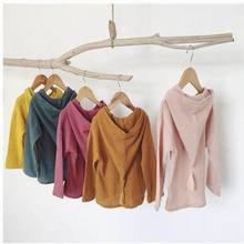 Bonjean ladies jacket boy hooded sweatshirts custom-made cotton tassel hooded cardigan coat spring clothes toddler youngsters garments