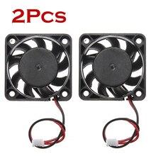 2 uds. 12V Mini ventilador de refrigeración del ordenador pequeño 40mm x 10mm CC sin escobillas 2 pin 40x40x10mm