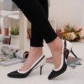2016 Nueva Moda Para Mujer Bombea Los Zapatos de Gran Tamaño 34-41 Zapatos de piel de Oveja de Cuero Genuino Color Mezclado Zapatos de Tacones Altos SMYCN-B0041