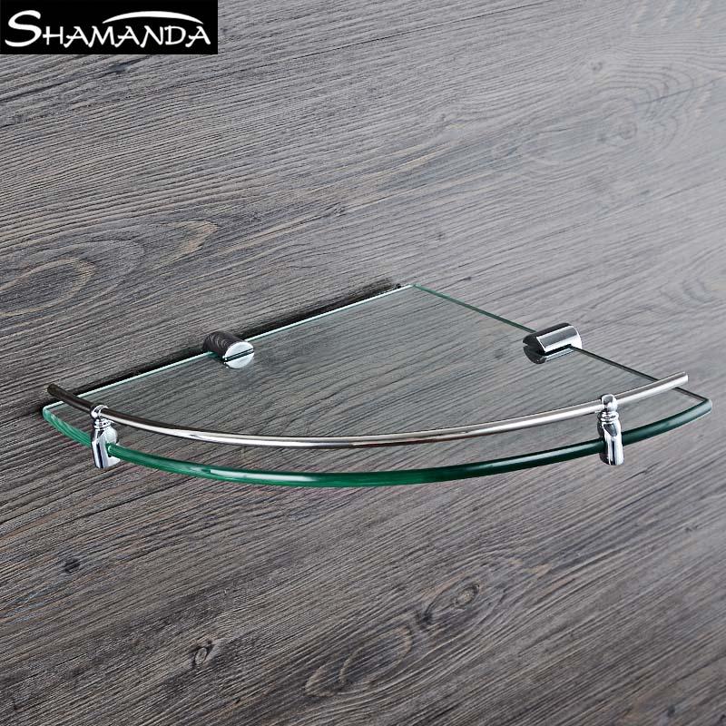 Sully Huis Badkamer rvs Hoek 8mm Dikte Gehard Glas Plank, badkamer ...