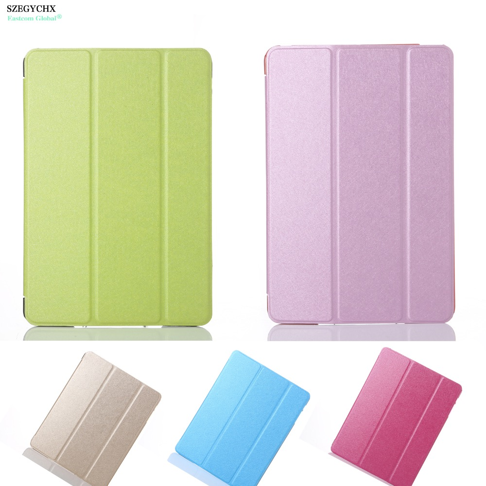 SZEGYCHX 9 7 inch Tablet Case For iPad 4 2 3 Color PU Transparent Back Ultra