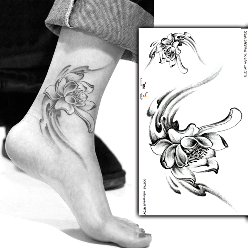 ᗛtemporaire Tatouages Autocollants Cheville Pieds Art Peinture