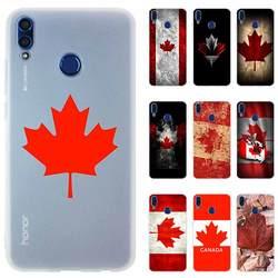 Kanada flaga klon liście Nove Honor 10i 20i telefon skrzynki pokrywa dla Huawei Honor 10 9 lite 8a 8X x10 9a 7A Pro 30 30s