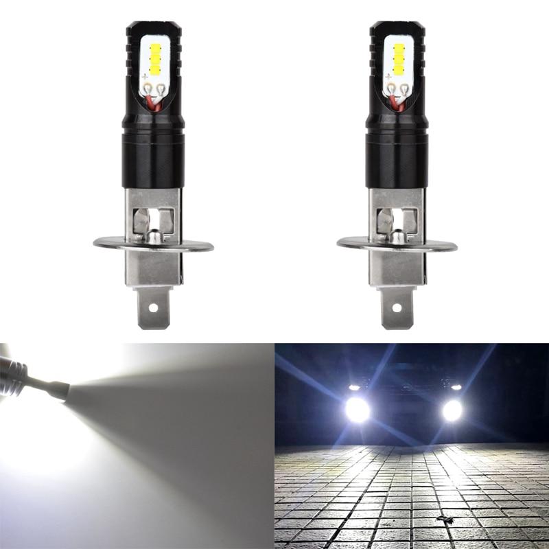 цена на Katur 80W H1 Led Bulbs For Cars Daytime Driving Fog Lights CSP Chip Super Bright 6000K White Lighting High Power H3 Led Lamp