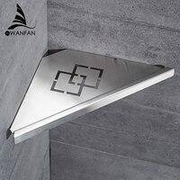 Stainless Steel 304 Sturdy Corner Bathroom Shelf Modern Wall Shelf Bathroom Rack Accessories WF 18062