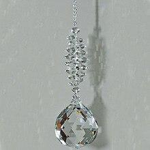 1 шт. прозрачный кристалл Призма шаровой маятник фэн-шуй кулон Висячие Радуга солнцезащитный Декор окна
