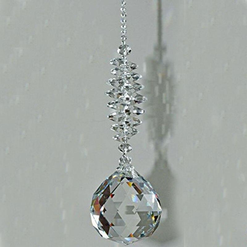 1 Stücke Klar Kristall Prisma Ball Pendel Feng Shui Anhänger Hängen Regenbogen Suncatcher Fenster Decor Klar Und GroßArtig In Der Art