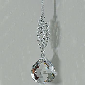 1 sztuk wyczyść kryształowy pryzmat piłka wahadło Feng Shui wisiorek wiszące Rainbow Suncatcher wystrój okna tanie i dobre opinie Miłość WQM YXT