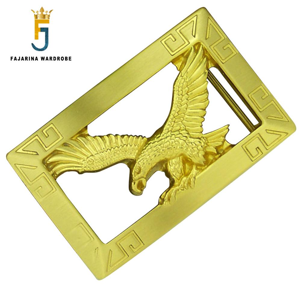FAJARINA Men Designer Fly Eagle Pattern Slide Styles Buckles Brass Smooth Style Belt Buckle Only For 3.6-3.9cm Wide Belts BCK017