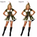 FREE SHIPPING S-2XL NEW MENS LADIES ADULT ROBIN HOOD MAID SEXY FANCY DRESS COSTUME