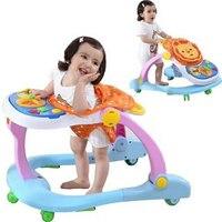 Multifunctional Infant Baby Walker with Wheels Anti rollover Baby Learning Walker Handpush Car Music Folding Walking Assistant