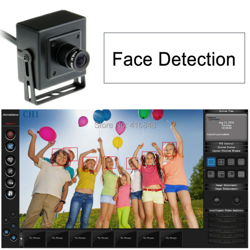 US $29 03 10% OFF 640X480 Face detection USB surveillance camera mini  housing Professional with Software (win7,win8, windows XP) with 5M Cable-in