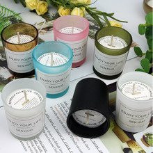 1PCS Pure Natural Soy Wax Scented Candle Essential Oil Scents Aromatherapy Burning