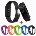 ID107 Rastreador De Fitness Monitor De Freqüência Cardíaca Do Bluetooth Pulseira Inteligente Pulseira para android ios + pulseira de borracha pk fit bit mi banda