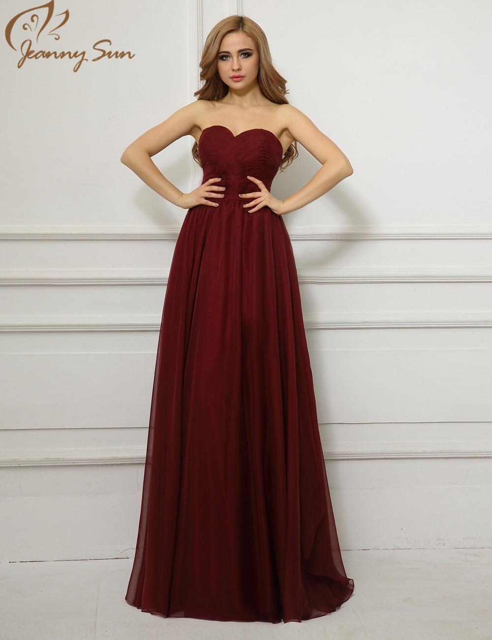Imagenes de vestidos de noche color vino