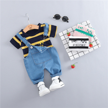 2019 Summer Baby Girls Boys Clothing Sets Toddler Infant Clothes Suits Striped T Shirt  Shorts Kids Children  Casual Suit цена и фото