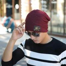 Algodão Chapéu do Inverno Quente Na Moda Chic Knitting Slouchy Baggy Oversize  chapéu para o Homem e Mulheres Cap Unisex Crânio s. ad99db6d44f