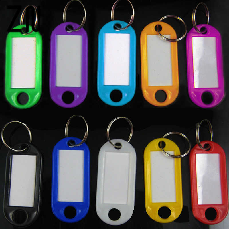 ZN 1PCS Best Plastic Key Tags Keychain Hotel Numbered Key Ring Men Women Key Holder Supplies