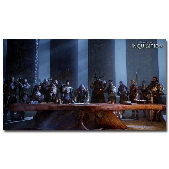 Dragon Age 3 Inquisición Seda Del Arte Del Cartel de Impresión 13x24 ...