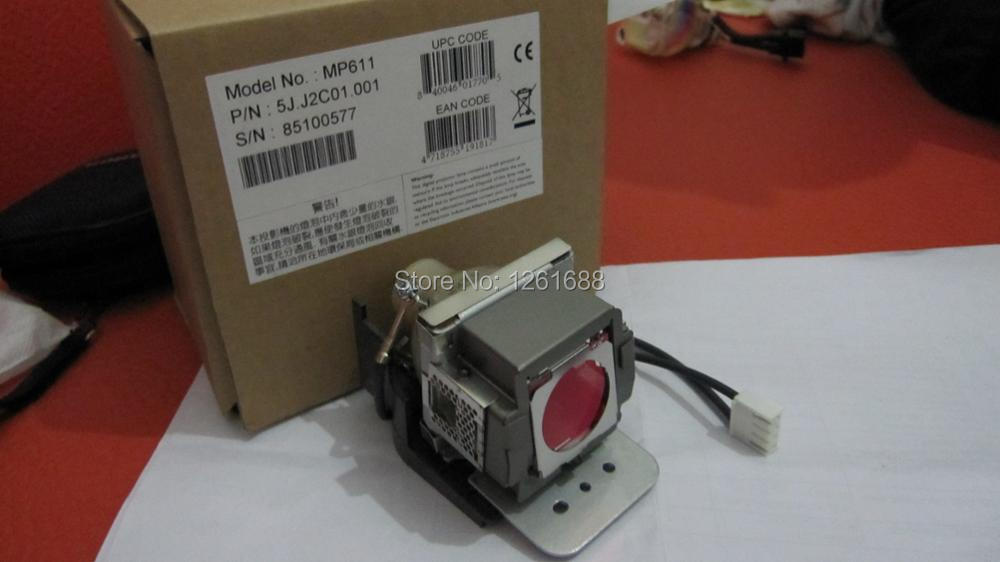 Original projector lamp 5J.J2C01.001 for BENQ MP611 / MP611C / MP620C projectors compatible mp610 mp610 b5a mp611 mp611c mp615 mp620 mp620c mp620p mp720 mp720p mp721 mp721c pd100d w100 for benq projector lamp