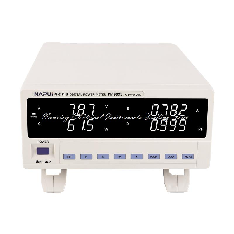 Fast arrival PM9801  NEW BRAND TRMS Voltage Current Power Factor & Power Meter Analyzer Tester Alarm Function AC110-240V hp9800 pc usb port 4500w 85v 110v 220v 265v ac 20a electric power energy monitor tester watt meter analyzer with socket output