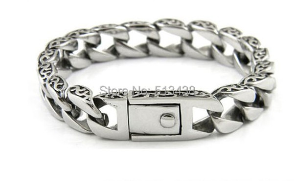 Urban Jewelry Stainless Steel Mens Wristband Bracelet Bangle Silver