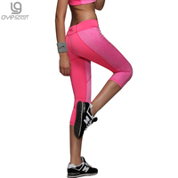 Sexy Gym Women Sport Leggings Fitness Trousers Strength Sports Pants Capri Reflective Night Running Sport Jeggings