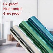 Solar Window Film Mirror glass sticker DIY one way Privacy Self-adhesive film Heat control Anti UV decorative Foil Home Office