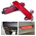 2x Lente Vermelha LEVOU Choques Refletor Traseiro Cauda Luz de Freio Apto para Nissan Juke Murano da Quest Sentra Infiniti FX35 FX37