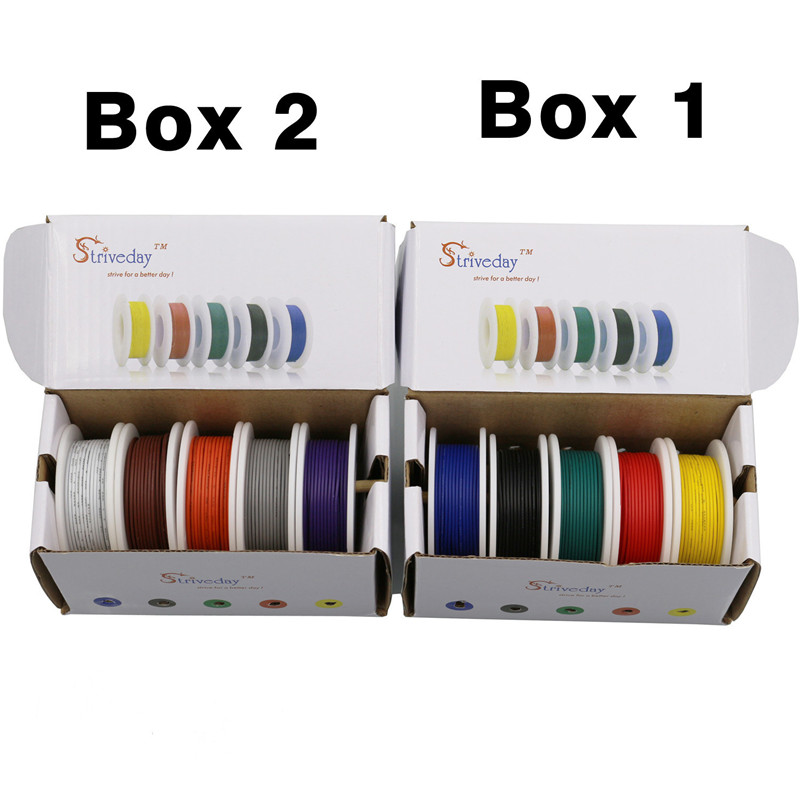UL 1007 28awg 50m/box Electrical Wire Cable Line 5 colors Mix Kit box 1 box 2 Airline Copper PCB Wire DIYUL 1007 28awg 50m/box Electrical Wire Cable Line 5 colors Mix Kit box 1 box 2 Airline Copper PCB Wire DIY
