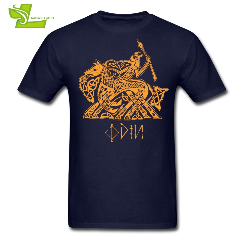 Odin Vikings Man   T     Shirt   Home Wear Classic Loose   T  -  Shirt   Men's Summer Round Neck Tee Dad Newest Unique Clothes Odin