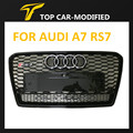 Free shipping SUPER FRONT SPORT GRILLE FOR AUDi A7 MESH RS7 LOOK BLACK SPORT Grill Grille