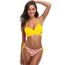 ZHUOHE Bikini Set 2019 Low Waist Swimsuit Bathing Suits Two pieces Swimwear Fun Tropical Print Beach Wear Biquini for Women Lady