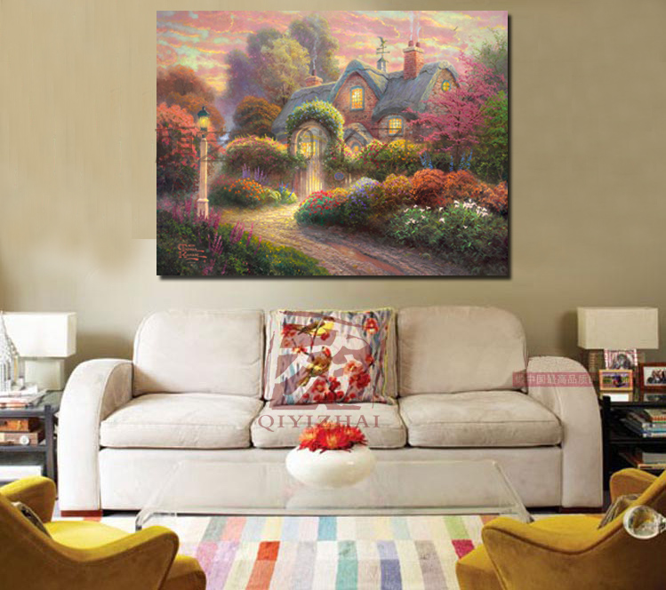 2016 beautiful country art oil painting   100  hand painted work   36   INCHESCompare Prices on Large Art Work  Online Shopping Buy Low Price  . Cost To Paint A Large Living Room. Home Design Ideas