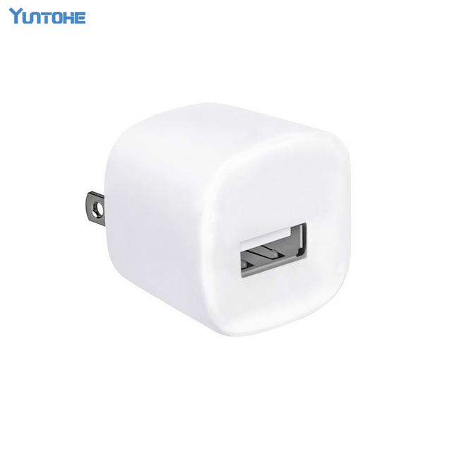 US/EU Plug cube USB Travel AC Power Wall charger Adapter Charger For iPod For Iphone 5 5S 6plus 6 6S 7 7plus 10pcs/lot