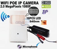 1080P Poe IR Night Vision 18pcs 940nm Invisible Led Onvif P2P Mini IR Wireless Ip Camera