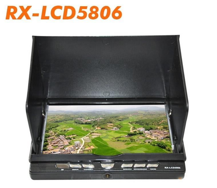 2015 nouveau moniteur FPV boarnaque RX-LCD5806 7 ''5.8 GHz 32CH récepteur de diversité DVR HD FPV moniteur