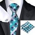 SN-553 100% Tejido Jacquard de Seda de Los Hombres Corbatas Corbata pañuelo Gemelos Conjuntos para hombres Formales Del Banquete de Boda Del Novio Envío Gratis