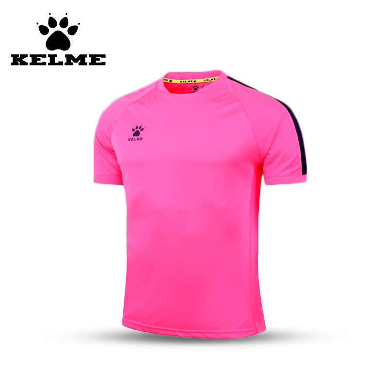 f08bebcb2 KELME Official Authentic Spain Men Soccer Jersey Short Sleeve Sport  Training Survetement Football Customized Shirt Quick