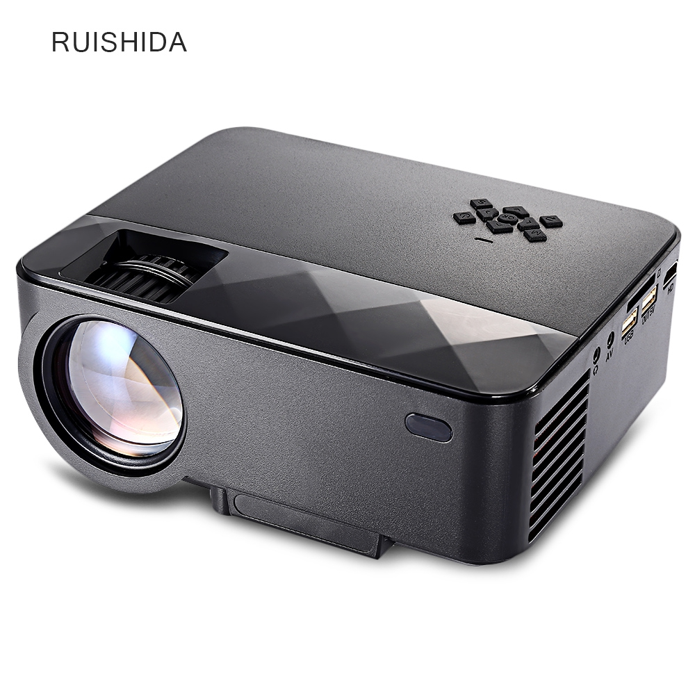 ФОТО 2017 multimedia player projector TV Home Theater Genuine RUISHIDA Portable 1500 Lumens Home LCD Projector