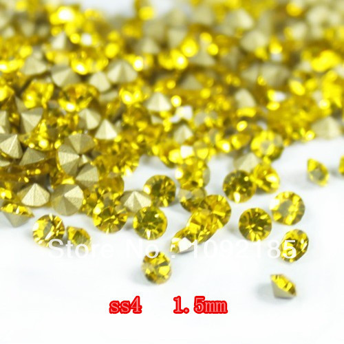 SS4 14400Pieces 100Gross Point Back Rhinestone Citrine Color Point Back Chaton Free Shipping степлер мебельный gross 41001
