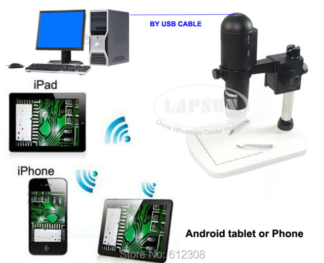Online shop 1080 p full hd wifi & usb digital mikroskop für ios