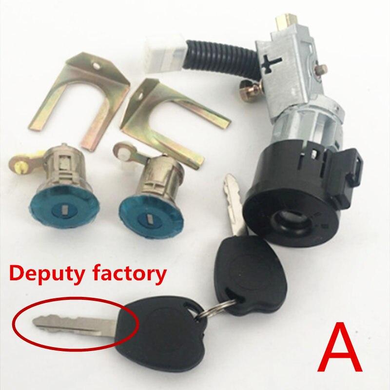 Auto cilindro della serratura della porta kit, iginition lock cilindro set per Geely LC, Geely GX2, geely Emgrand XPandino, Panda