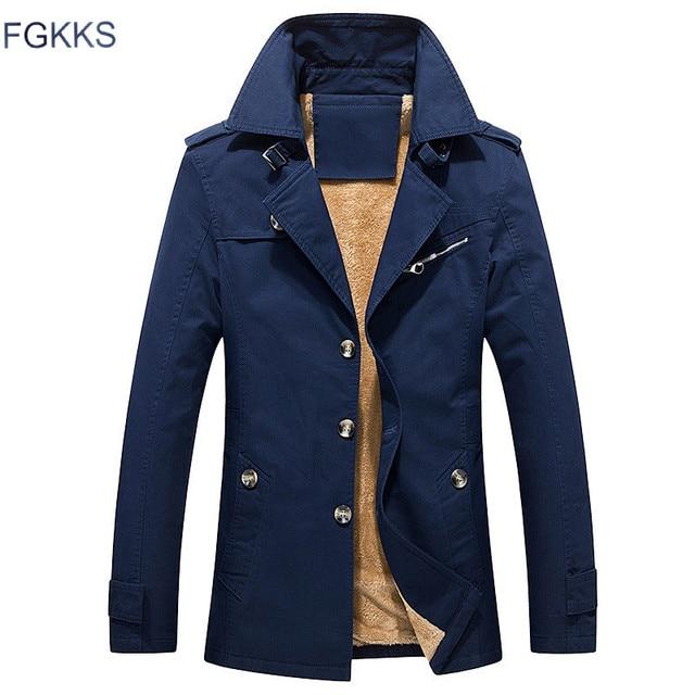 Fgkks 2018 New Winter Jacket Men Brand Bomber Jacket Male Fashion
